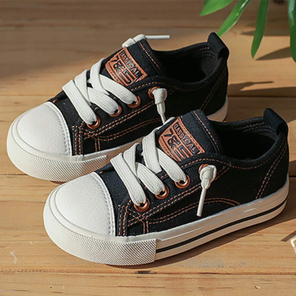 Daclay Chaussures pour Enfants Chaussures en Toile pour gar/çons et Filles Couleur Unie Bande /élastique antid/érapante et r/ésistante /à lusure