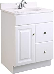 Design House 597161 Wyndham Unassembled Bathroom Vanity Cabinet without Top, 30 x 15, White