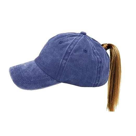 a9570e40e0feb Amazon.com  FGSS Unstructured Women Ponytail-Baseball-Cap for Messy ...