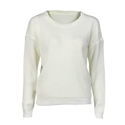 HhGold Pullover Sudadera Señoras Blusa Moda Mujer Tops Suelta Otoño  Invierno de Manga Larga de Punto e8b1a43f5b32