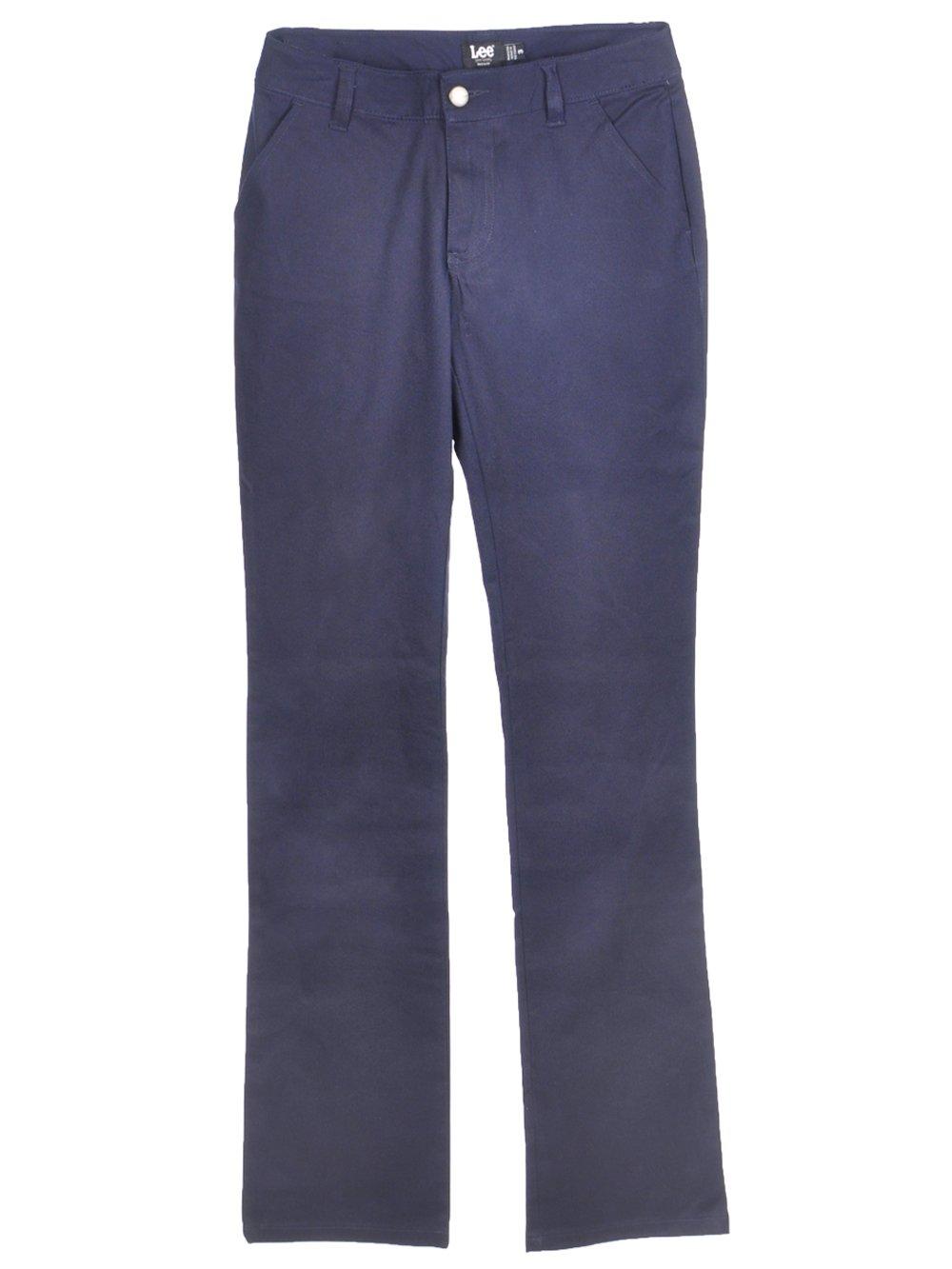 LEE Uniforms Juniors Curvey Straight Leg Pant, Navy, 13