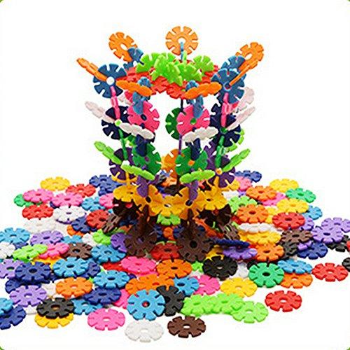 300 pcs Educational Magnetic Construction Snowflake Building Blocks Toys Sets,Preschool Skills Educational Construction Toys Set