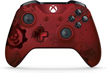Microsoft WL3-00001 - Xbox One Gears of War 4 Crimson Omen Limited Edition Wireless Controller (Enewed) software de correo electrónico: Amazon.es: Electrónica