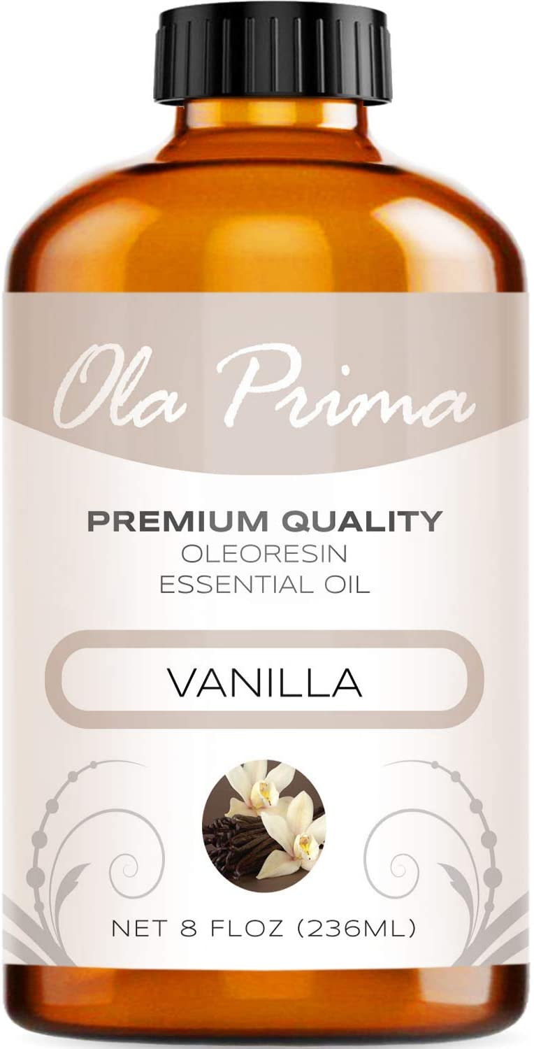 Ola Prima 8oz - Premium Quality Vanilla Essential Oil (8 Ounce Bottle) Therapeutic Grade Vanilla Oil