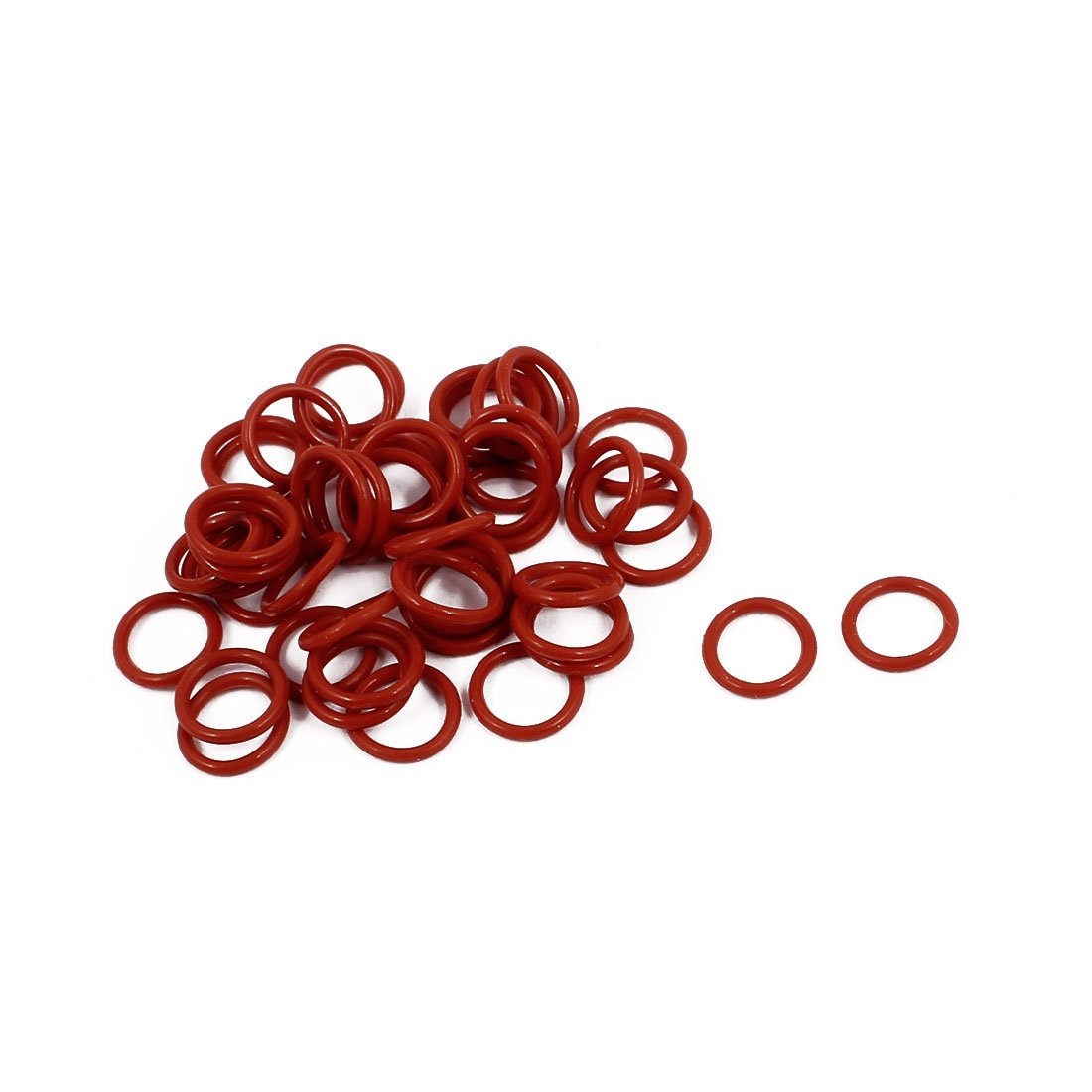 50Pcs 9mm x 1mm Rubber O-rings NBR Heat Resistant Sealing Ring Grommets Red