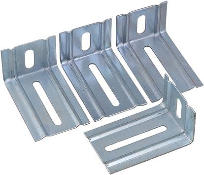 Mxfans - 4 puertas correderas de garaje de 92 x 58 x 43 mm para puerta de granero para un deslizamiento suave: Amazon.es: Bricolaje y herramientas