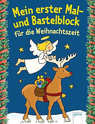 Mein ester Mal- und Bastelblock für die Weihnachtszeit