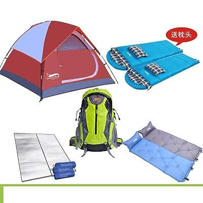 ?Paquet de tente/(tente/sac de couchage*2/coussins gonflables?*2/2 ?mat Mi/sac ¨¤ dos)