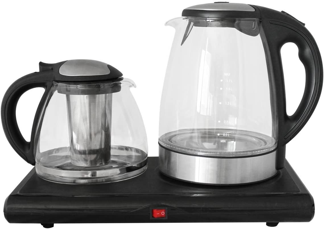 GOLDA INC. Glass Tea Maker, Electric Kettle, Tea Tray Set …