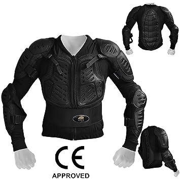 Hombres AQWA para motocicleta protectora chaqueta moto Motocross blindados armadura del motorista guardia negro: Amazon.es: Deportes y aire libre