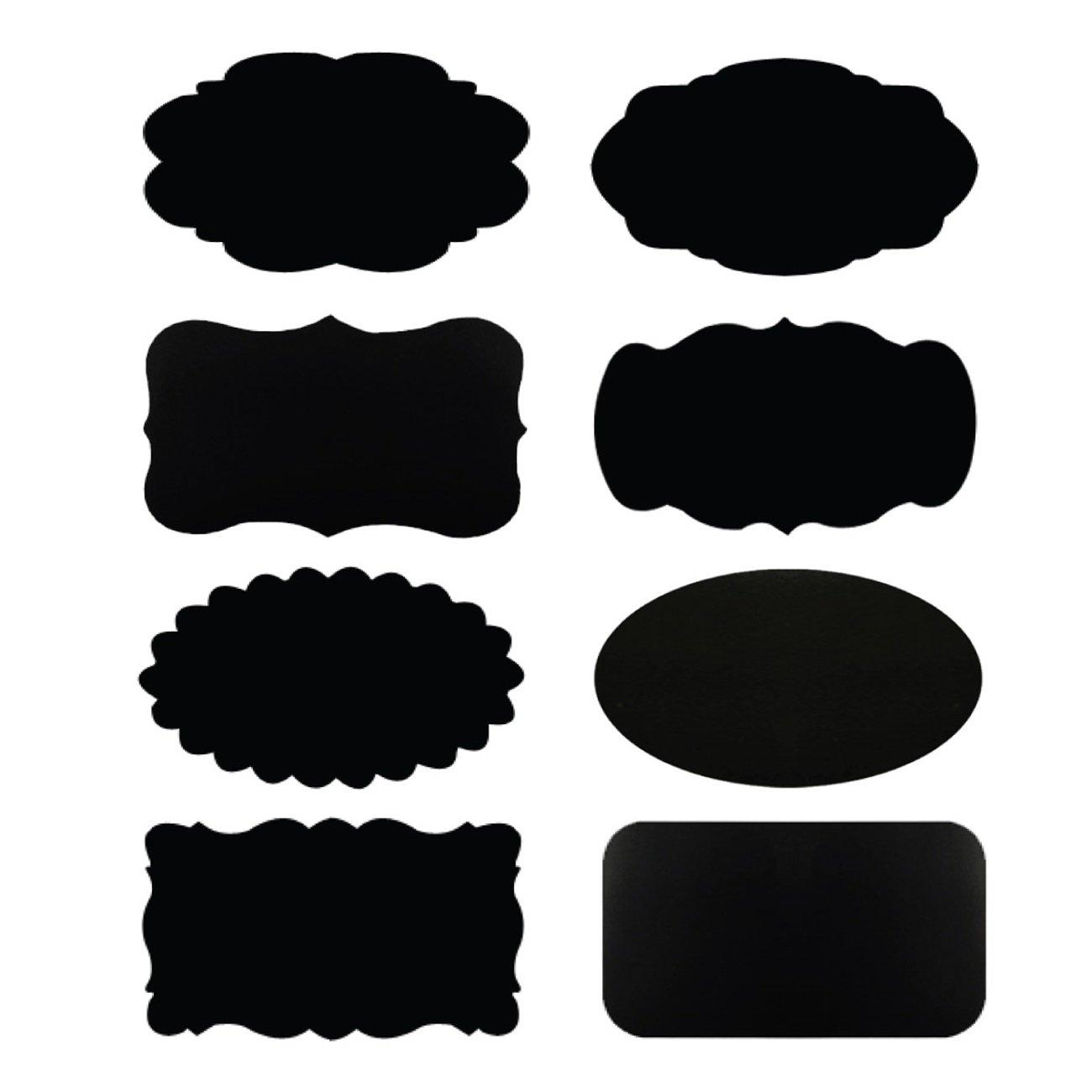 【正規販売店】 Wrapables黒板ラベル/黒板ステッカーの整理、ラベリング、ギフトタグ、Drink/ワインマーカーandや結婚式のセット64 B00WN8HYOW、2 x