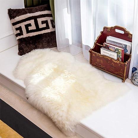 Amazon.com: Alfombra de piel de oveja suave y sedosa de pelo ...