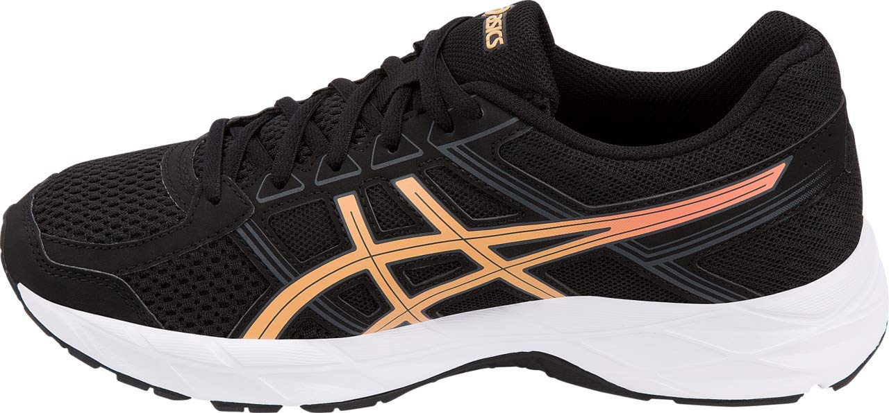 ASICS Gel-Contend 4 Women's Running Shoe, Black/Apricot Ice/Carbon, 5 M US by ASICS (Image #2)