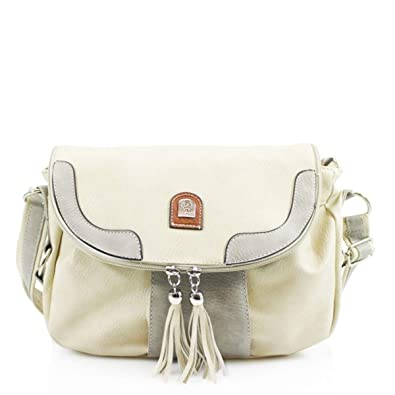 LeahWard Women s Tassel Crossbody Bag Holiday Shoulder Bags Handbags 750  (Beige) 6a8a881ae