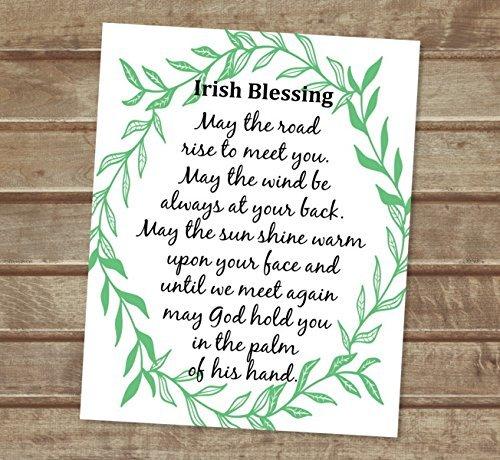 May The Road Rise To Meet You, Irish Blessing Art Print, Inspirational Art Print, Unframed Print, 8