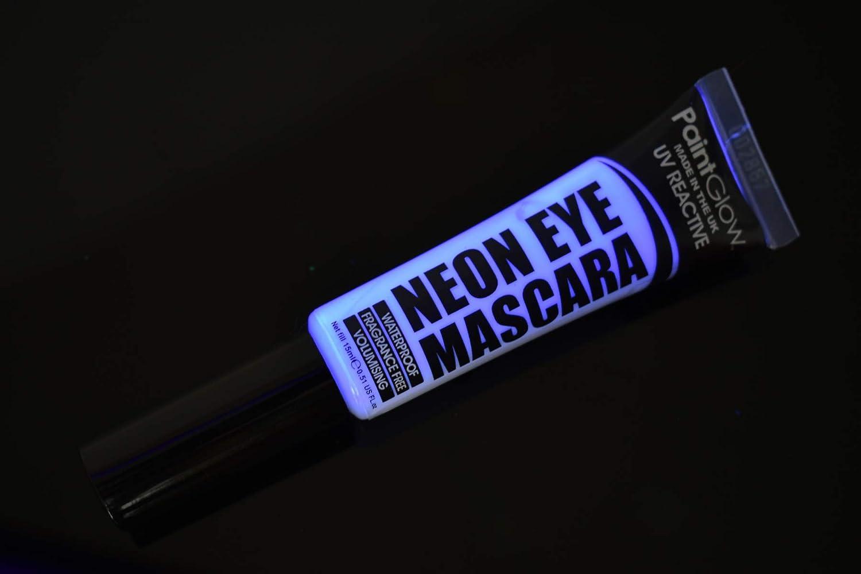 Paint Glow Blacklight Reactive UV Eye Mascara - UV Blue