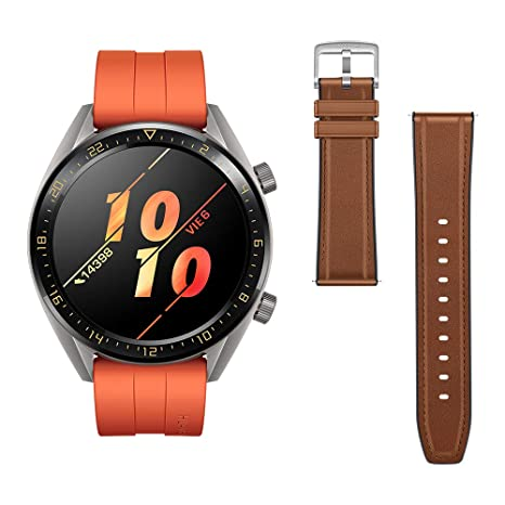 Huawei Watch GT Active - Reloj Inteligente, Naranja, 46 mm, Reloj+Correa