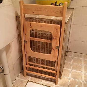 LJ&XJ Portátil del Viejo Madera sólida Silla de WC, Compacto ...