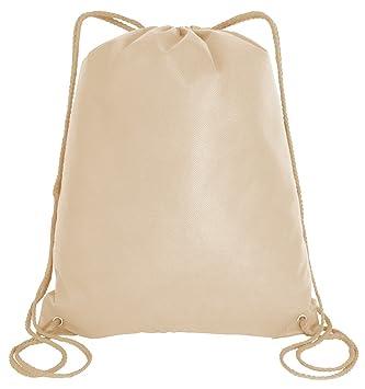 3e81016b2d3c Amazon.com: Large Drawstring Backpack Gym Sack Bag Foldable Cinch ...
