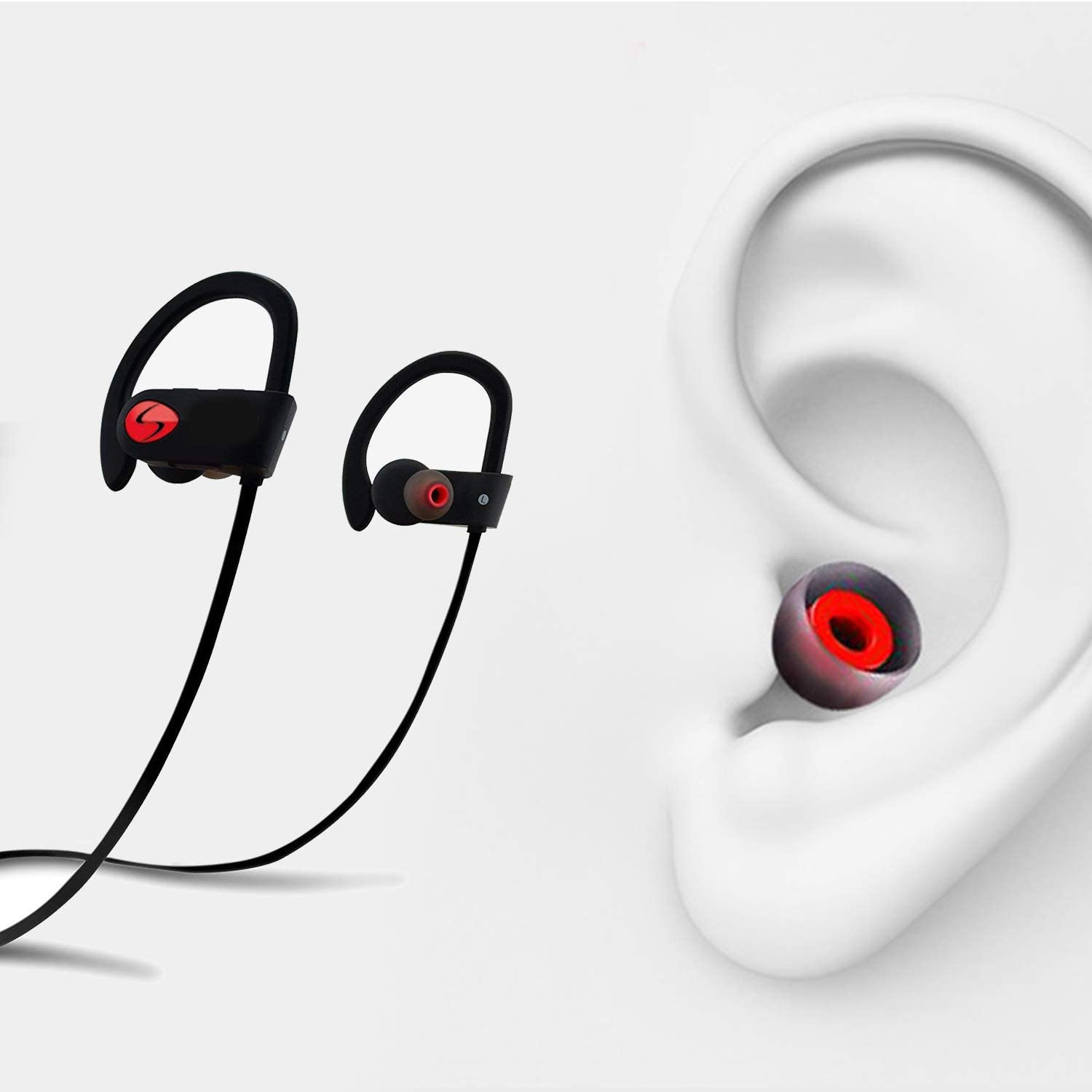 6 Paris Silicone Replacement Ear Tips Earbuds Eargels for Mpow,Senso,Zeus,Otium,Hussar,Letscom/ Bluetooth Earphones Black and Gray
