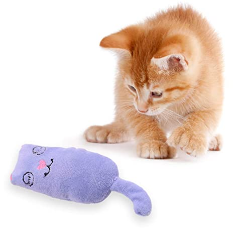 Legendog Juguete para Mascotas Dibujos Animados Lindo Biteresistante Gato Catnip Juguete Gatito Juguete Interactivo