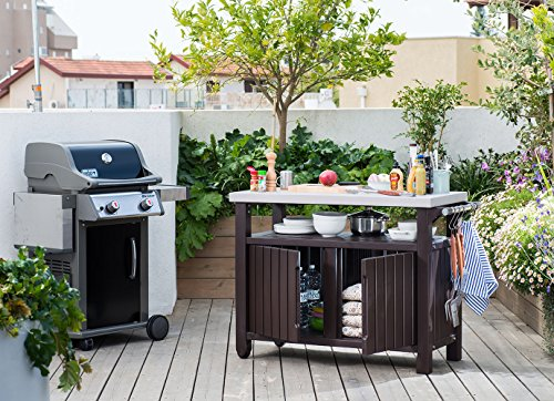Keter Unity Extra Large Indoor Outdoor Entertainment Bbq