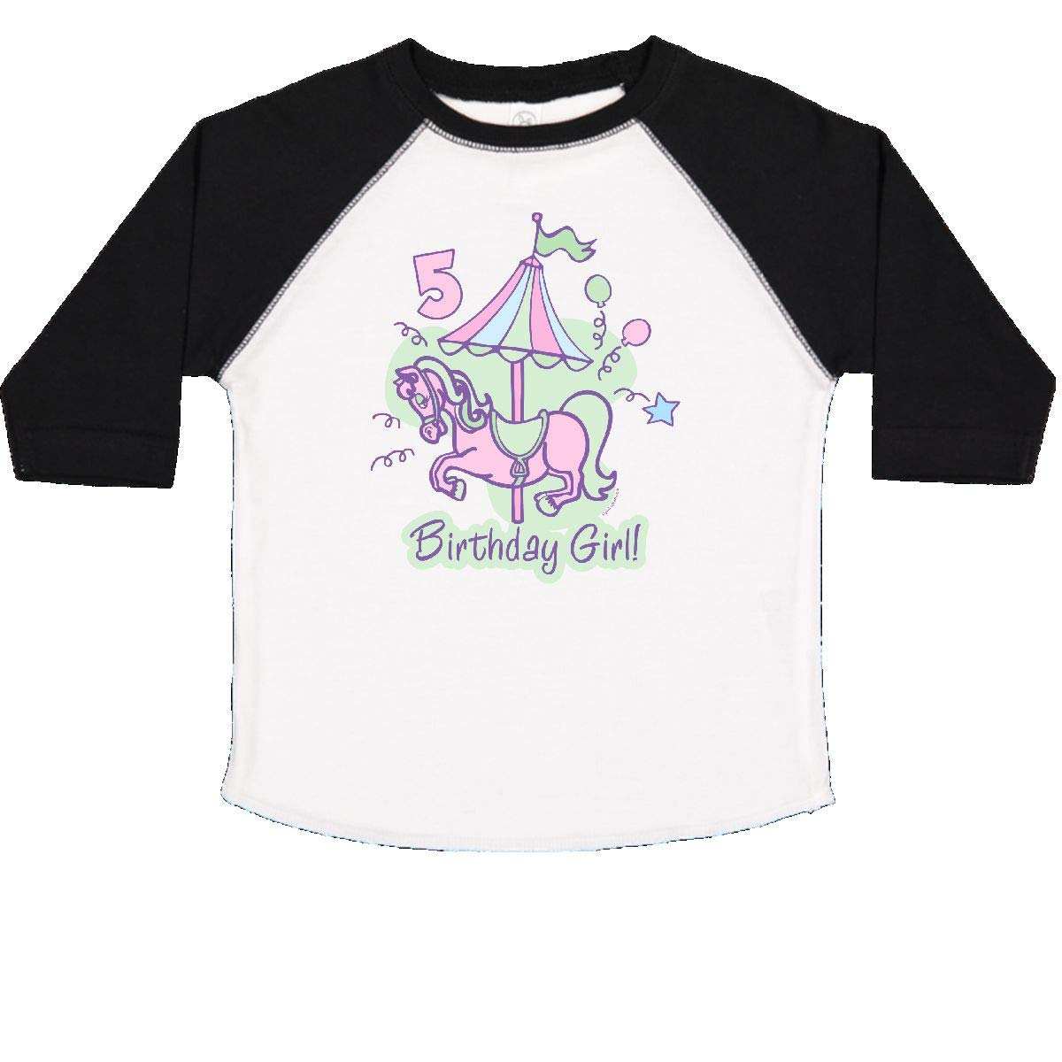 inktastic Carousel 5th Birthday Toddler T-Shirt