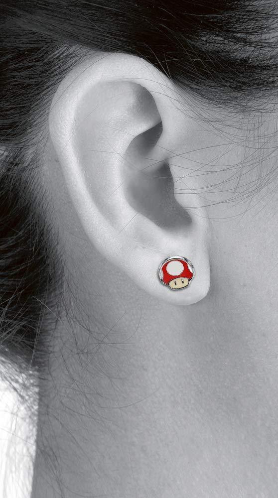 Super Mario Yoshi Egg /& Mushroom Earpin Set Multicolour