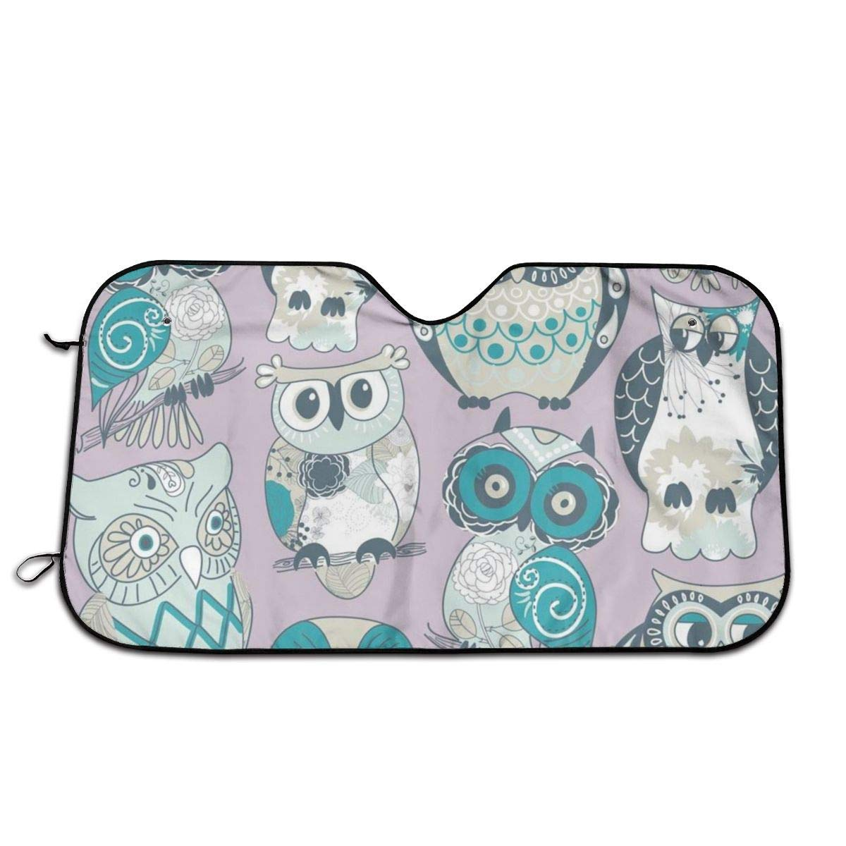 Owls Windshield Sun Shade Car Windows UV Ray Reflector Outdoor Vehicle Accessories by ChanFi