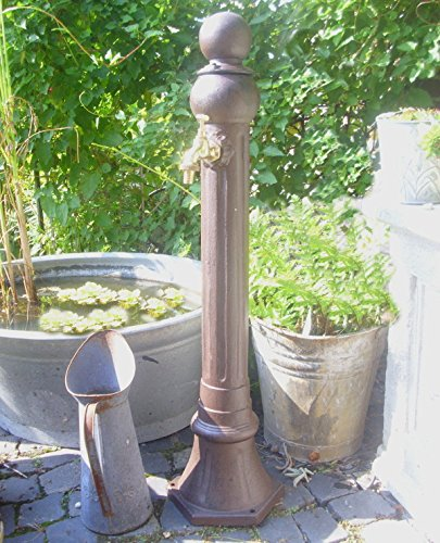 Brunnen Nostalgie Gartenbrunnen Säule Zapfsäule Garten Standbrunnen Antik