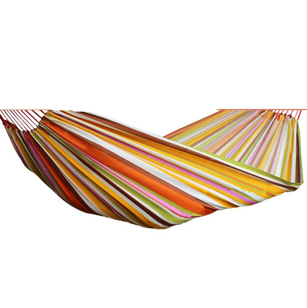 DZW Oxford Single Hängematte Breathable Schweiß Outdoor Erholung Durable Hängematte 200  70 Bunte Hanging Type , rainbow