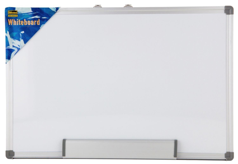 Idena 568024 - Lavagna magnetica da parete, cornice in alluminio, alloggiamento pennarello incluso, circa 40 x 30 cm, bianco AWB4030