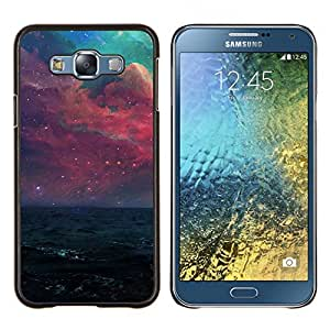 LECELL--Funda protectora / Cubierta / Piel For Samsung Galaxy E7 E700 -- Hermosa galaxia púrpura --