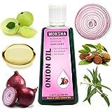 Moksha Onion Hair Oil for Hair Growth, Anti Hair-Fall & Anti Dandruff 100ml