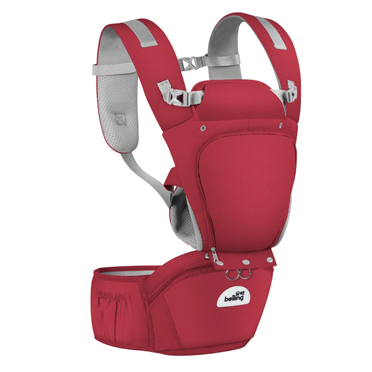 Joly Joy Baby Carrier with Hip Seat, Removable 6-in-1 multifunctional adjustable baby carriers, 360 Ergonomic Baby Carriers Backpack- Adapt to Newborn, Infant & Toddler, All Season Baby Sling JO-BY0001-RD