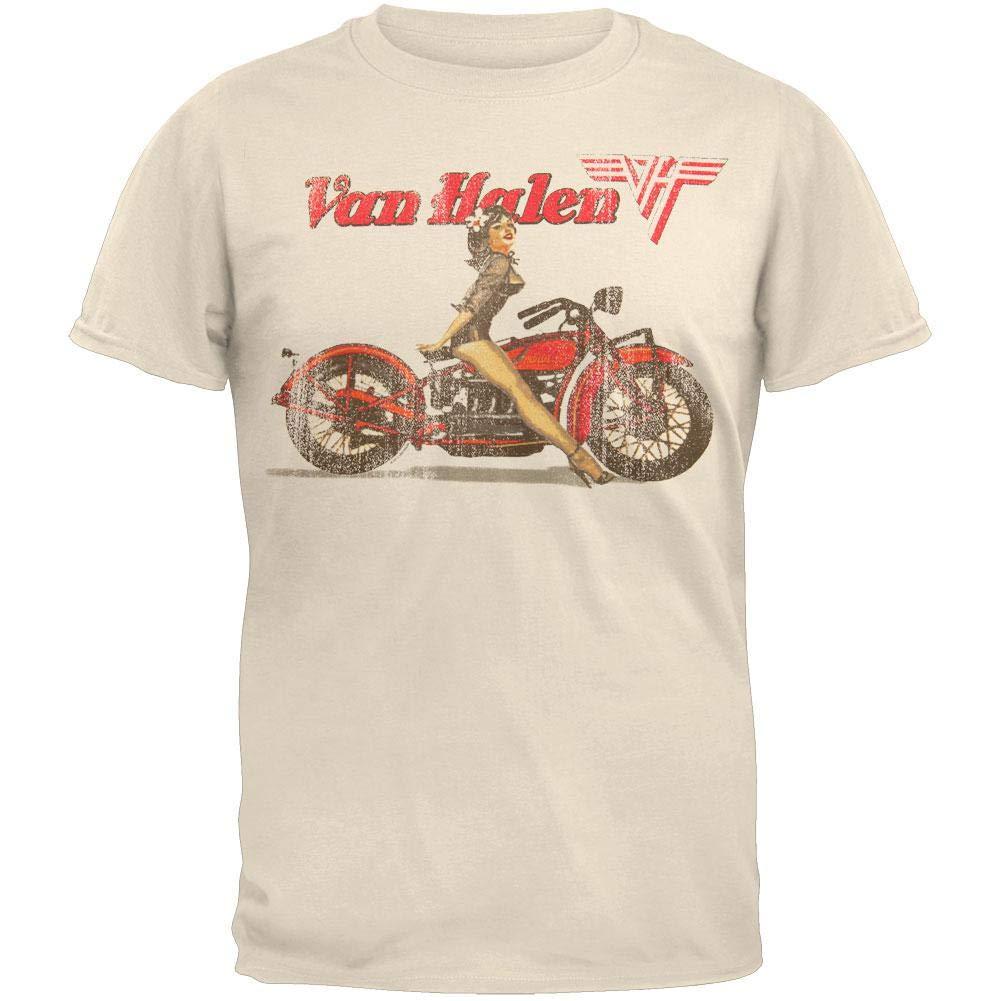 10e00eaa Amazon.com: Van Halen - Biker Pin Up T-Shirt: Clothing