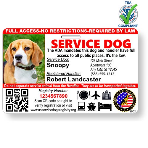 Best service dog id card with photo