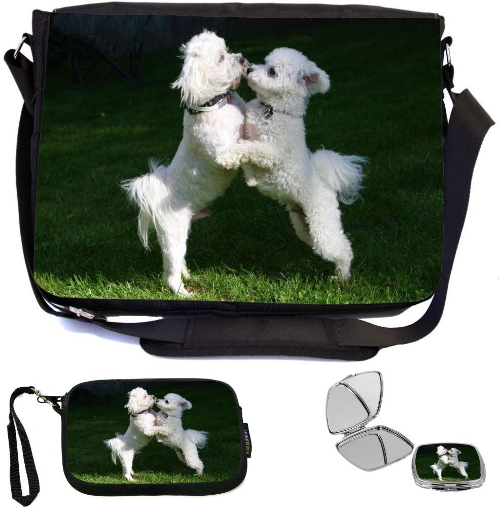 5233fd891776 Rikki Knight Bichon Frize Dogs Design COMBO Multifunction Messenger ...