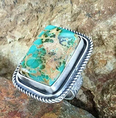 Agate Topaz Ring - Dokis 925 Silver Man Black Topaz Turquoise Opal Women Jewelry Gift Wedding Ring 6-10 | Model RNG - 17513 | 10