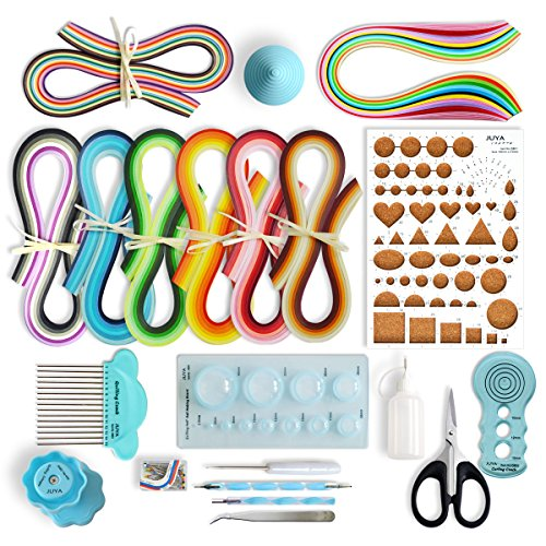 (JUYA Paper Quilling Kits with 960 Strips and 13 Tools (Blue Tools, Paper Width 3mm))