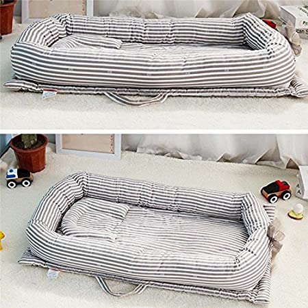 Portable Baby//Infant//Newborn//Toddler Travel Bed Crib Breathable and Hypoallergenic Sleep Nest Newborn Lounger Pillow Keebgyy Baby Bassinet for Bed