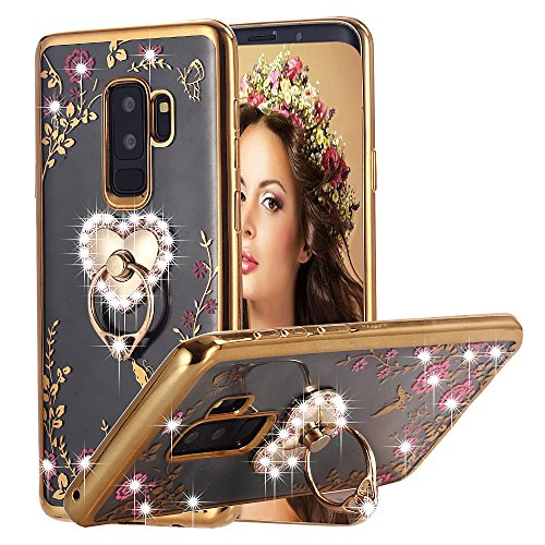 Galaxy S9 Plus Case Ring Holder, Miniko(TM) Soft...
