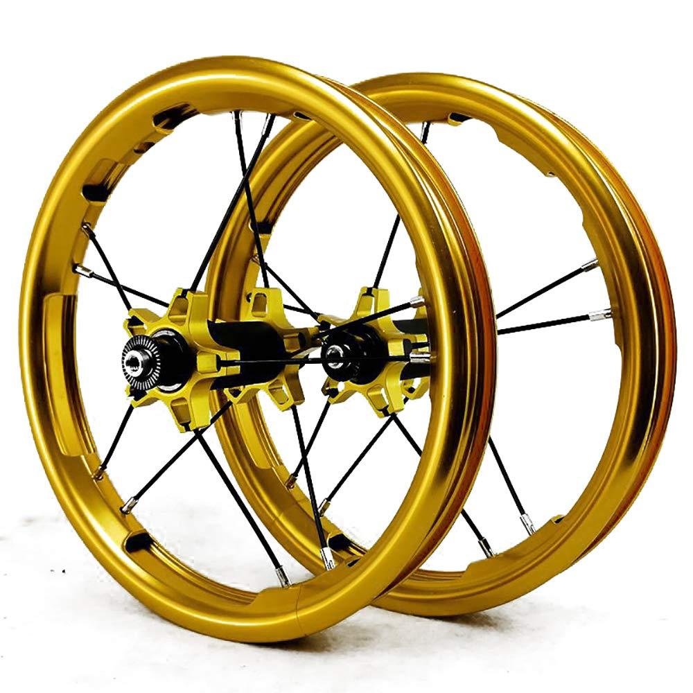 LIDAUTO Laufräder Balance Bike für Kinder Radsatz BMX Aluminiumlegierung 12 Zoll 12  2PCS 85MM Golden