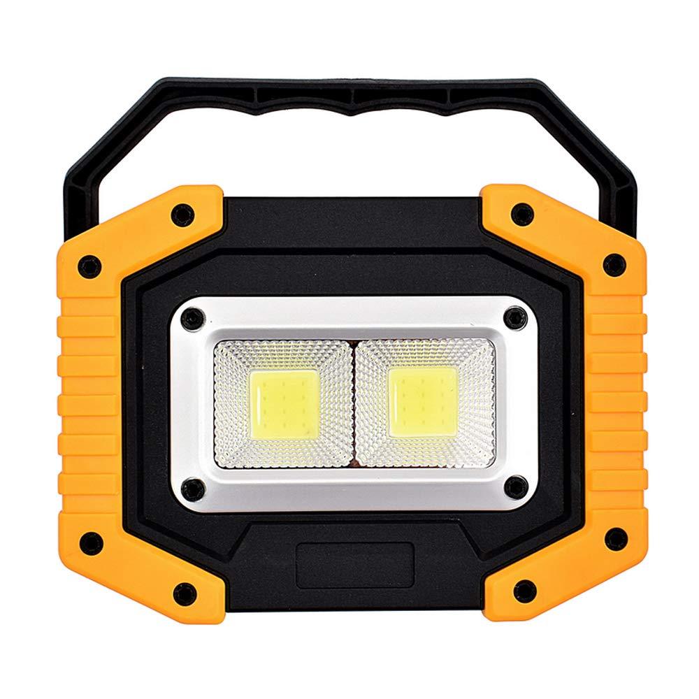KKmoon Foco LED recargable 20W COB Luz Proyector port/átil Luz de trabajo Linterna de camping al aire libre Linterna de b/úsqueda Linterna L/ámpara de mano