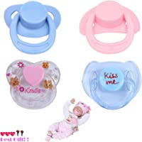 OHQ 4PC New Dummy Pacifier For Reborn Baby Dolls ,With Internal Magnetic Accessories Children Toys,Toys For 1 Year Old Boy,Toys For 2 Years Old Boys