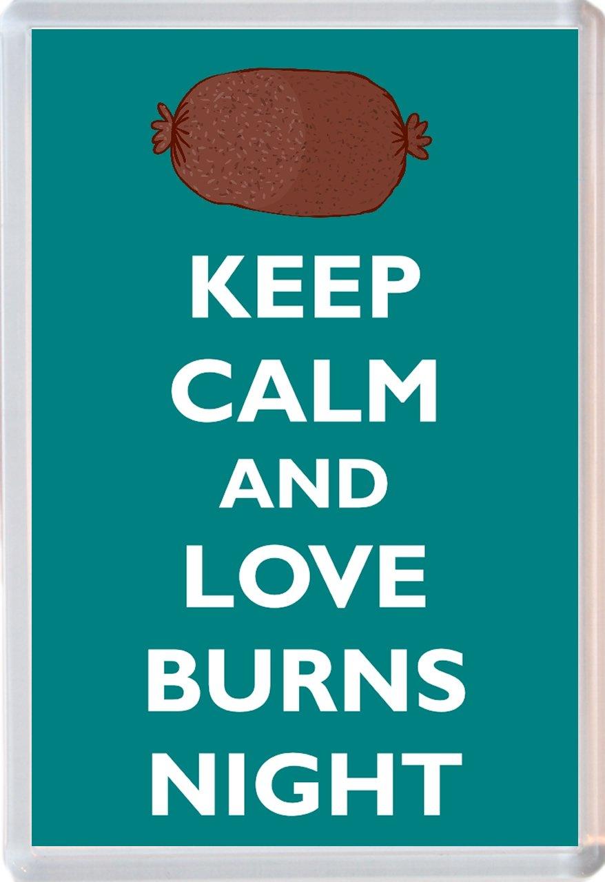 Novelty Jumbo Fridge Magnet Gift//Souvenir//Present Keep Calm and Love Burns Night