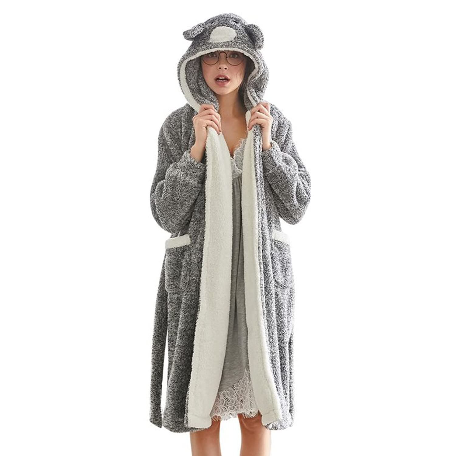 Women's Comfort Cotton Hooded Bath Robe