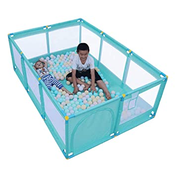 Portable Child Baby Infant Playpen Travel Cot Bed Crawl Play Area Turquoise