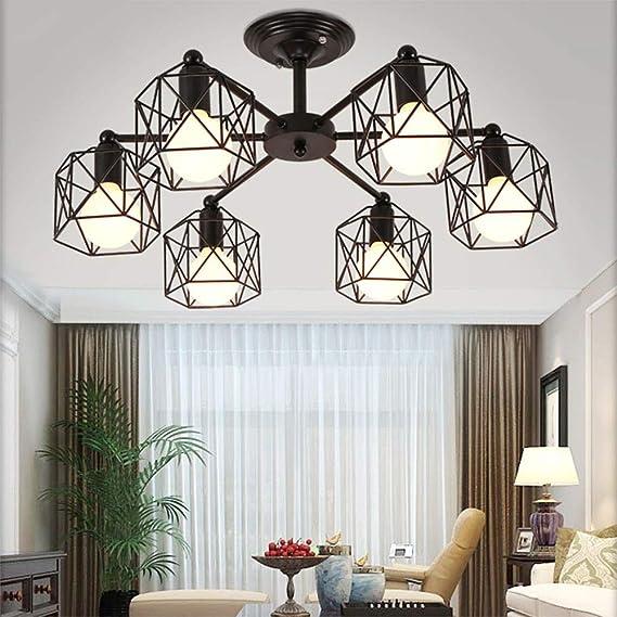 Antike Industrial Wohnzimmerlampe Schwarz Deckenleuchte Eisen