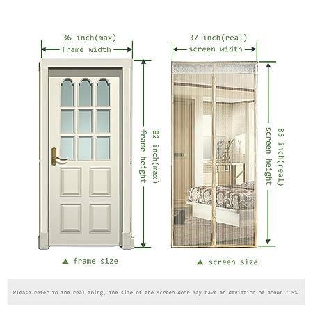 Magnetic Screen Door,Removable Screen Door with Full Frame Velcro ...
